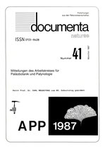 Documenta naturae, Band 41