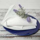 Leinenservietten gesäumt (ohne Hohlsaum)  - wollweis oder leinenfarben oder grauer Jacquard