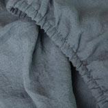 Bettlaken in graublau  aus Gewaschenem Voll-Leinen (mit Fixgummi)