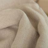 Bettlaken leinenfarben aus Gewaschenem Voll-Leinen, mit Fixgummi