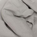 Bettlaken in hellem grau aus Gewaschenem Voll-Leinen (mit Fixgummi)
