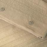 Bettlaken in leinenfarbenen Voll-Leinen (mit Fixgummi)