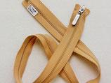Reissverschluss fein teilbar hautfarben 57 cm silberner Zipper