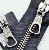 Reissverschluss metall beidseitig teilbar schwarz 52  cm