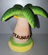 """Sparkasse Palmen mit Aufschrift """"Traumurlaub"""""""