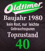 """T-Shirt """"Oldtimer Baujahr 1980..."""""""