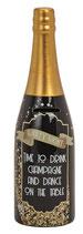 Sparkasse Flasche Champagner