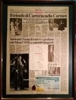 商品名News Paper Jose Carreras GALA 1995.8.29