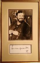 商品名Luciano Pavarotti 1990 Photo Autograph