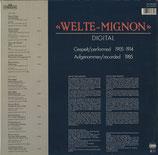 商品名INT-Welte160.855  Piano Roll Lp