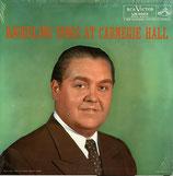 商品名Bjoerling at Carnegie Hall LP