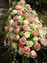 Sargdecke weiß-rosa