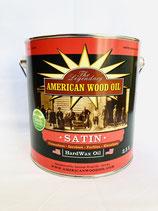 American Wood Oil Hartwachs-Öl, farblos, Satin (seidenmatt), 2.5 Liter