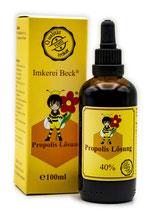 Propolis Lösung mit natürlichem Propolis, 20ml oder 100ml Propolislösung in der praktischen Tropfflasche (20ml) oder mit Pipette (100ml)