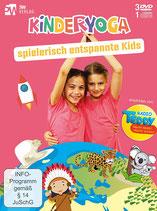 DVD Kinderyoga - spielerisch entspannte Kids - BOX bestehend auch 3 DVDs + 1 CD (Herausgeber: 5W Verlag)
