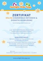 Online Kinderyoga Ausbildung + kleines Starterset + 45 Minuten Coaching + Zertifikat