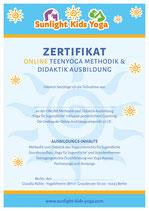 Online TEENYOGA Ausbildung mit Ausbildungsscript,  Coaching, Buch und Zertifikat