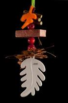 TIZIANO Hänger Priozo  16cm creme Herbstdeko