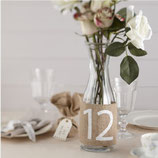 Hessian Burlap Table Numbers