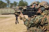 実物 M16 M27などに KAC KNIGT'S 600M フリップアップ リアサイト