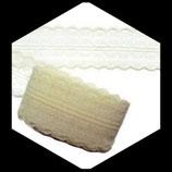 Dentelle polyester ivoire 4.5 cm X 9 m. DEN023