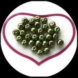 lot de 30 perles nacrées vert 8 mm création bijoux Réf : 1540