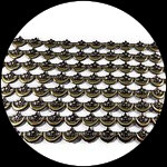 Galon 11 cm étoiles et lunes synthétiques/plastique GAL069
