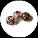 Perle imitation pandora ®  à facettes 15 x 9 mm rose chair Réf : 186