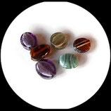Perles verre palets mélange - lot 6 perles verre palets fourniture création bijoux Réf : 1394