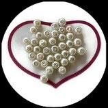 lot de 37 perles nacrées blanc 8 mm création bijoux Réf : 1525