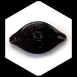 Perle en verre palet ovale  noir 75 mm Réf : 1379