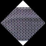 Galon 11.5 cm imitation strass argent et violet 4 mm X 24 rangs GAL066