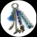 Porte clés , bijou de sac poissons