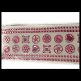 Strass : planche strass roses autocollants diverses formes STROO8