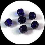 Perle en verre forme bleu foncé x 8 perles Réf : 1380