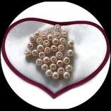 lot de 36 perles nacrées blanc rosé 6 mm création bijoux. Réf : 1516