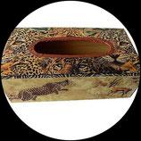 Boîte à mouchoirs bois savane