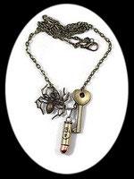 collier steampunk balle pour homme fait main, modèle unique