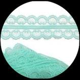 Dentelle polyester vert  4.5 cm X  9 m. DEN026