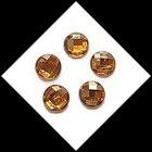 Strass ambre rond à coller 16 mm X 5. STR029