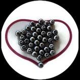 lot de 38 perles nacrées gris 8 mm création bijoux Réf : 1522