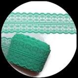 Dentelle polyester vert 4.5 cm X 9 m. DEN022