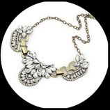 Collier strass rétro vintage gros maillons COL001