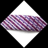 Biais replié 20 mm polyester rayé, pois fond blanc BIA006