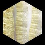 Volant dentelle et organza écru 5 cm X 1 m DEN049
