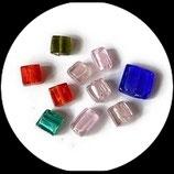 Perles de verre  palet mélange lot de 10 Réf : 1365