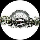 Serre tête enfant en fil aluminium vert pomme et vert, perles  - Accessoire coiffure fait main.