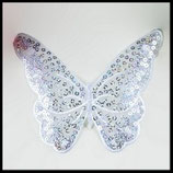 Applique papillon blanc brodée à sequins grand modèle APP027