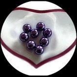 lot de 8 perles de verre limpides nacrées violet 10 mm création bijoux Réf : 1553