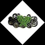barrette à cheveux aluminium vert papillon enfant